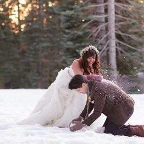 зимняя свадебная фотосессия фото 93