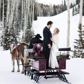 зимняя свадебная фотосессия фото 95