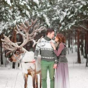 зимняя свадебная фотосессия фото 96
