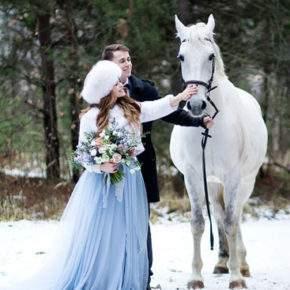 зимняя свадебная фотосессия фото 97