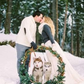 зимняя свадебная фотосессия фото 98