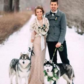 зимняя свадебная фотосессия фото 99