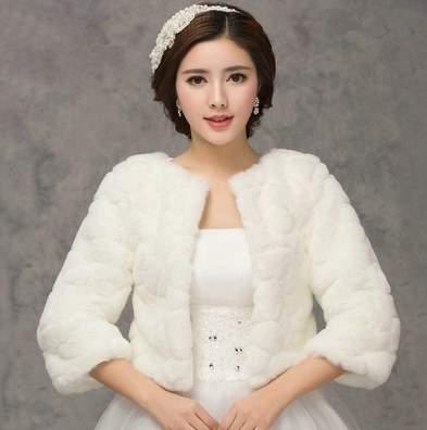 свадебное платье зимой фото 01