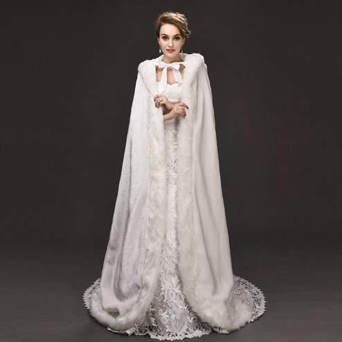 свадебное платье зимой фото 03
