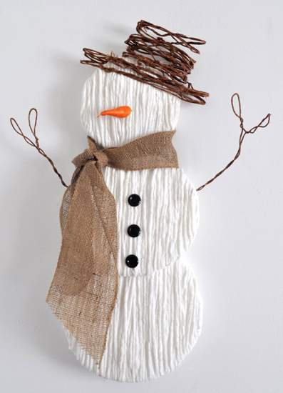 поделки зима снеговик фото 053