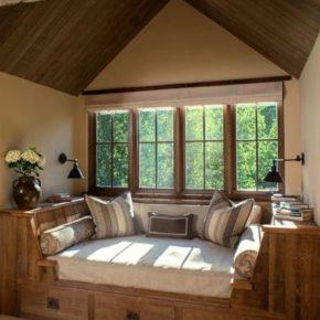 деревянные окна для дачи фото 030