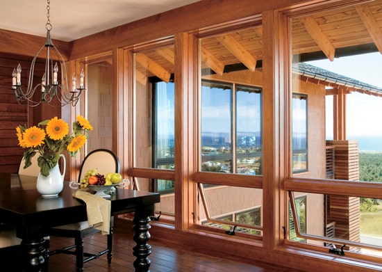 деревянные окна со стеклопакетом фото 040